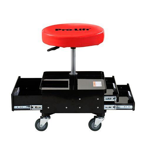 Chaise pneumatique avec 3 tiroirs