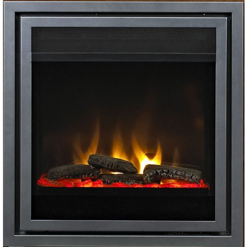 28 Inch Fireplace Insert with Log Set