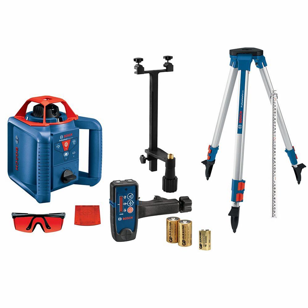Bosch 800 Feet. Self-Leveling Rotary Laser Level Kit
