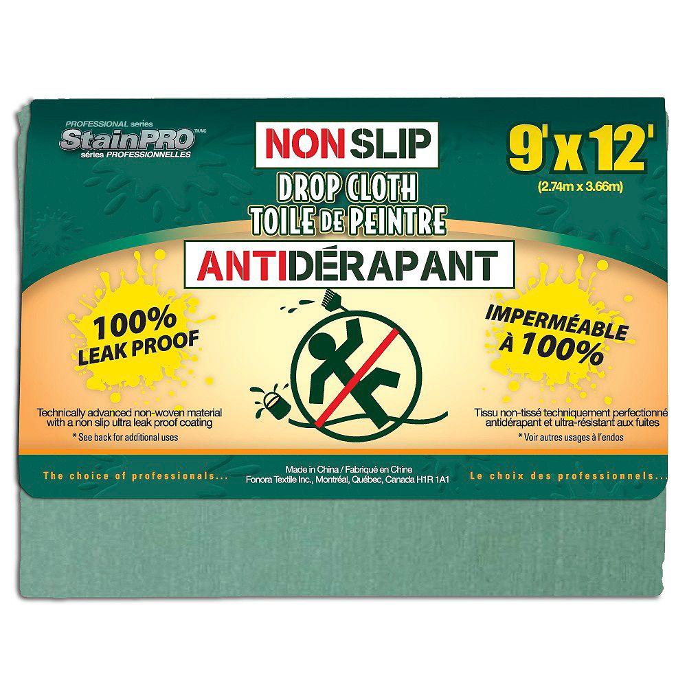 Stain Pro Non Slip Drop Cloth 9 Feet x 12 Feet