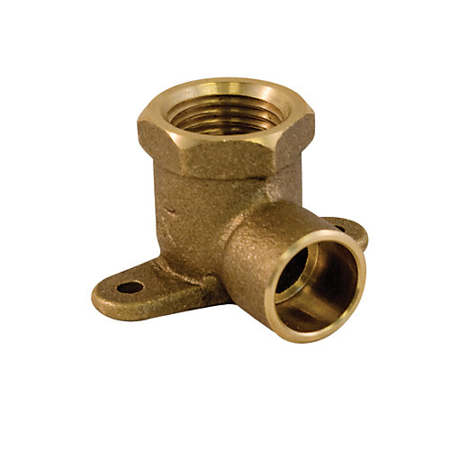 Drop Ear Elbow 1/2 Inch Female Threaded x 1/2 Inch Solder Brass Lead Free