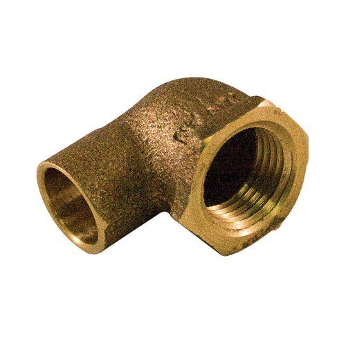 Aqua-Dynamic Coude 90 Degrés 1/2 Pouce x 3/4 Pouce Cuivre À Femelle Laiton Coulé Sans Plomb
