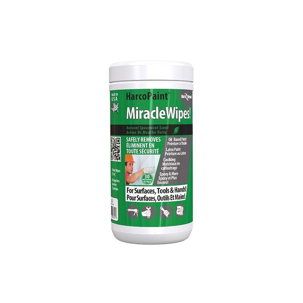 Harcopaint MiracleWipes HarcoPaint sont des lingettes pour les mains, nettoyage des surfaces et des outils.