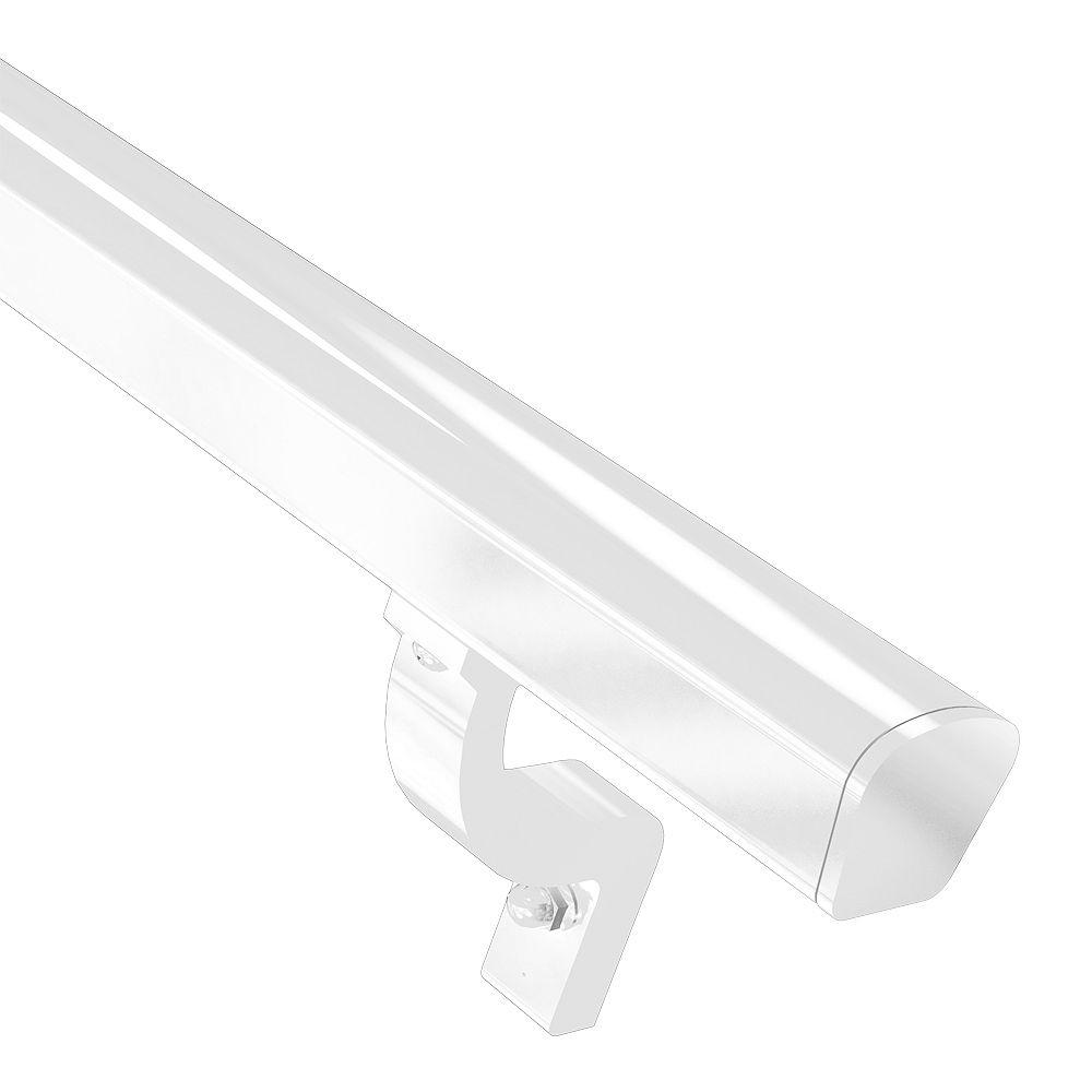 Peak Railblazers 8 ft. Continuous Aluminum Handrail Kit in White