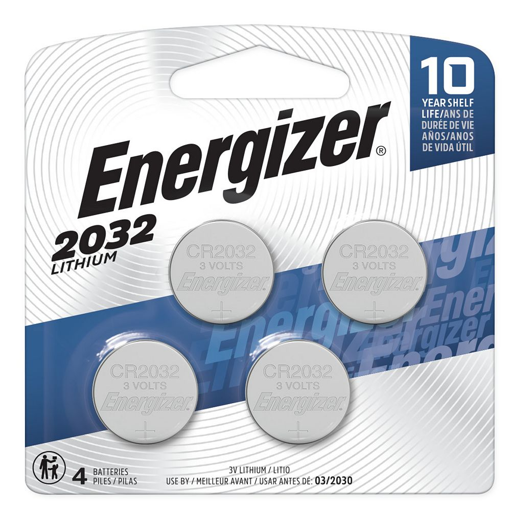 Energizer Energizer 2032 Lithium Coin Battery, 4 Pack