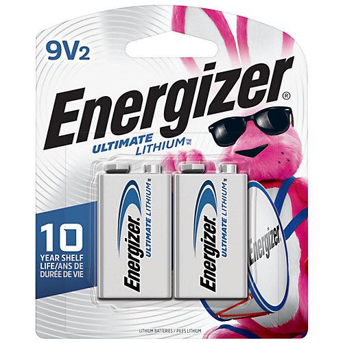 Energizer Ultimate Lithium 9V Batteries, 2 Pack