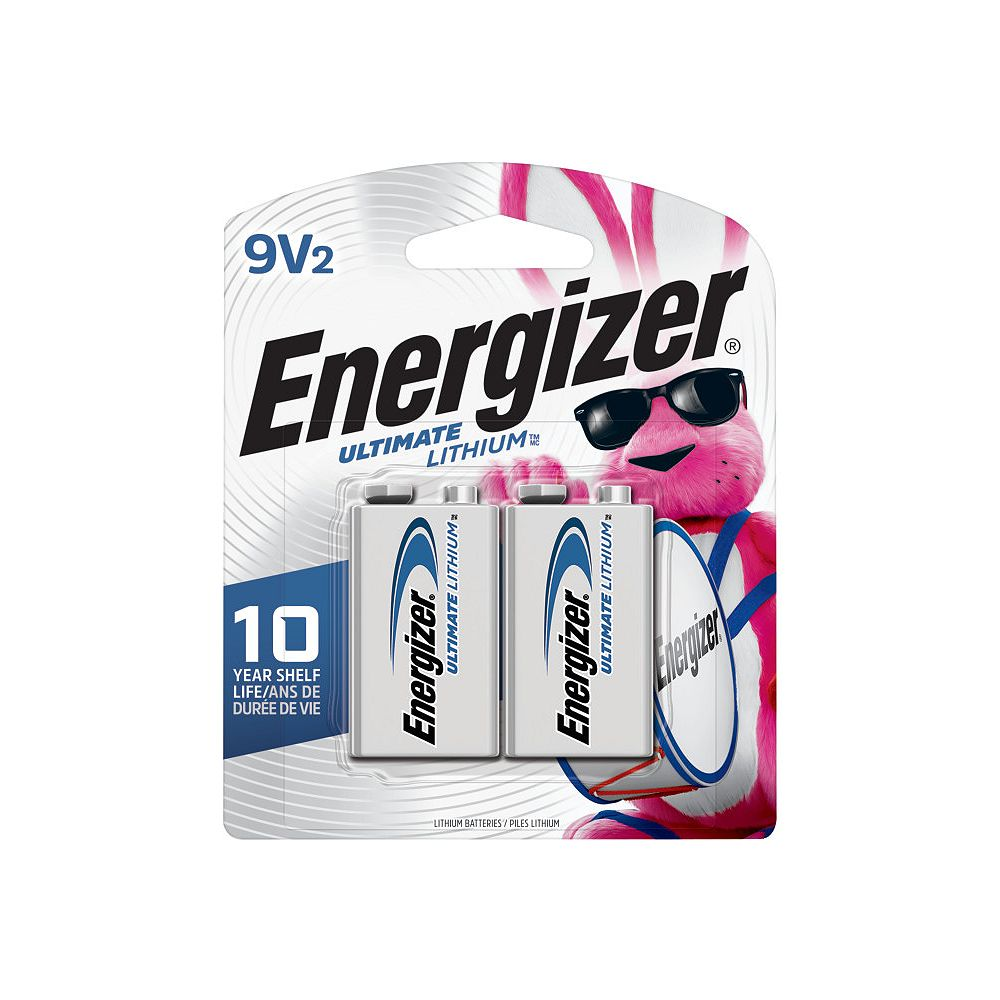 Energizer Energizer Ultimate Lithium 9V Batteries, 2 Pack