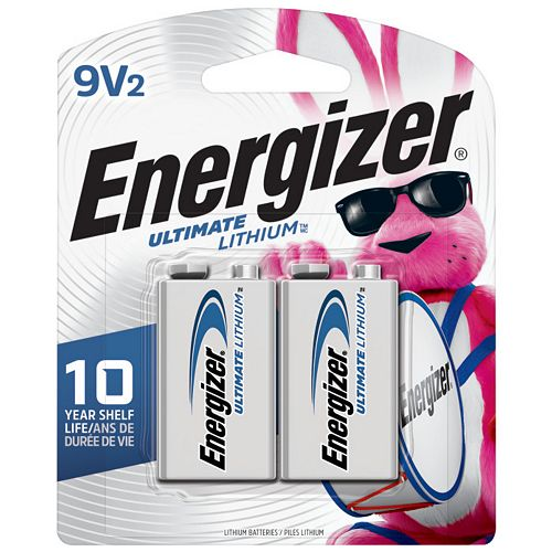 Energizer Energizer Ultimate Lithium 9V Batteries, 2 Pack
