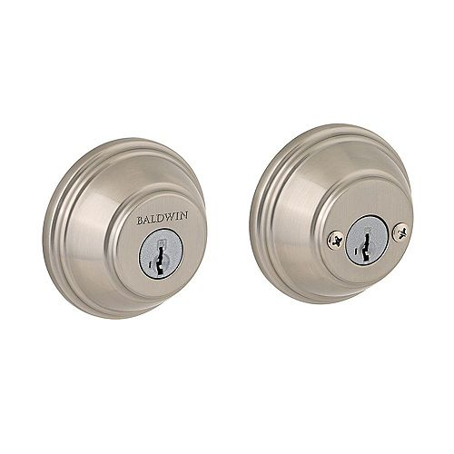 Baldwin Prestige Satin Nickel Double Cylinder Deadbolt