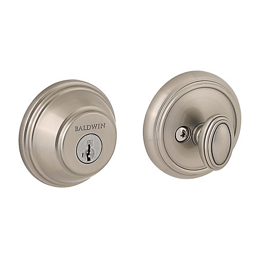 Prestige Satin Nickel Single Cylinder Round Deadbolt