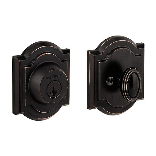 Prestige Venetian Bronze Single Cylinder Arched Deadbolt
