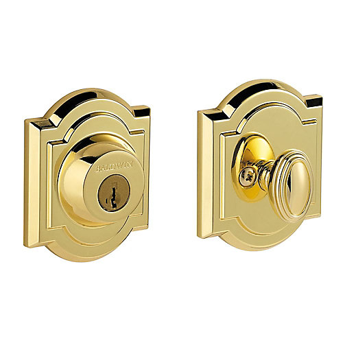 Prestige Polished Brass Single Cylinder Arched Deadbolt