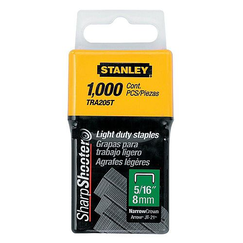 5/16-inch Leg 1-inch Crown 1/2-Gauge Galvanized Steel Light-Duty Staples (1,000-Pack)