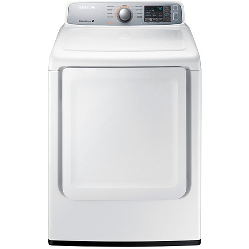 7.4 cu.ft. Front Load Electric Dryer in White