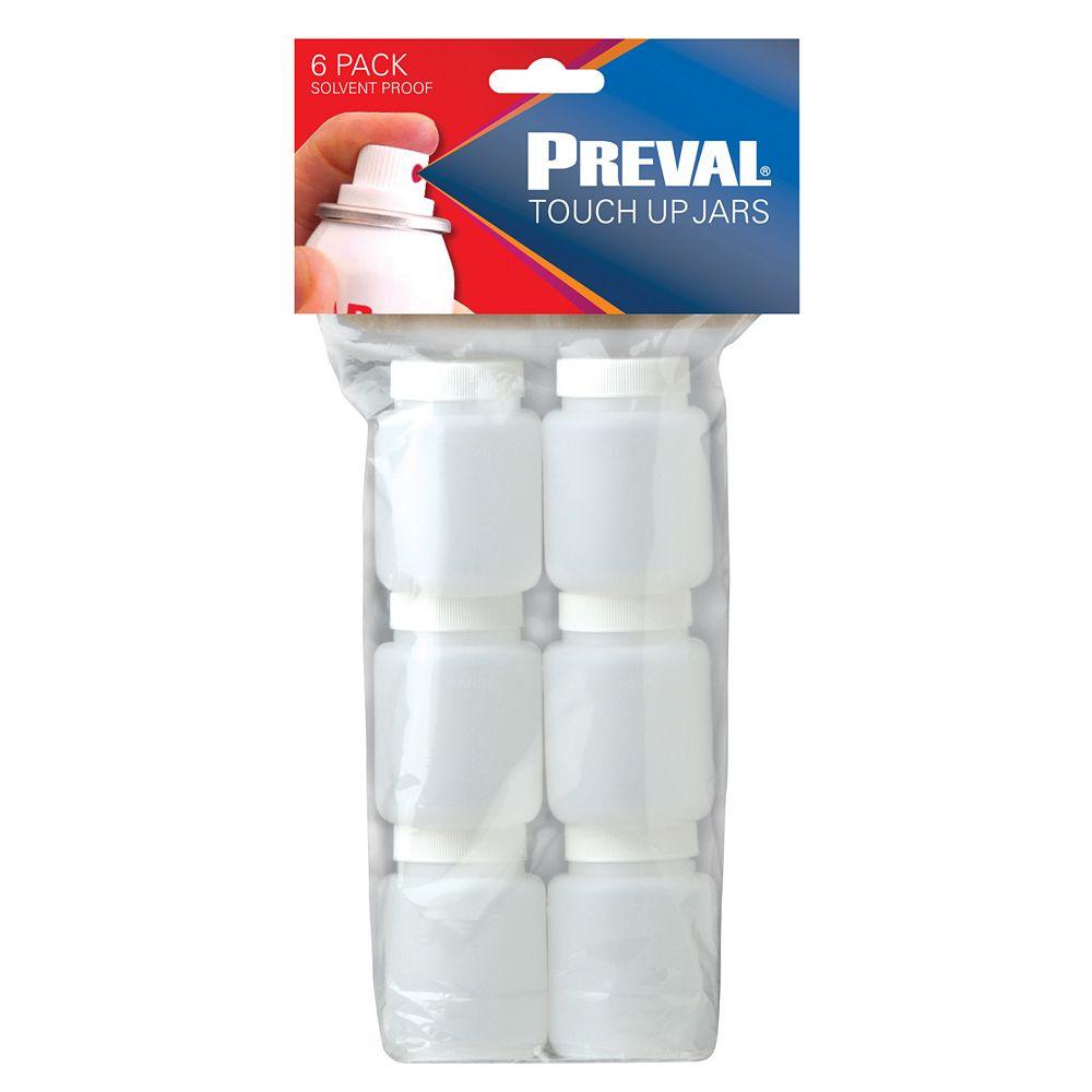 Preval 3oz Plastic Bottles - (6-Pack) (For Use With Sprayer)