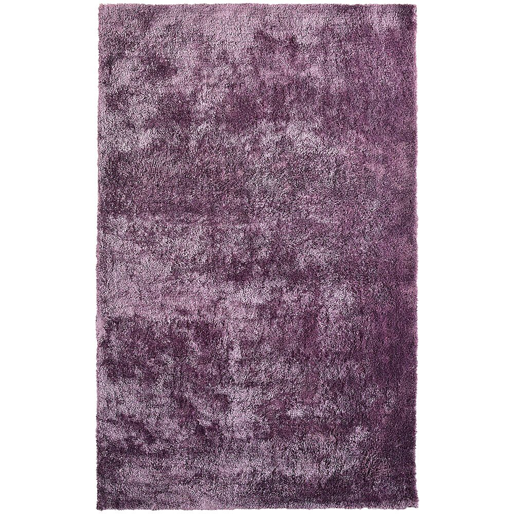 Lanart Rug Loft Shag Purple 5 ft. x 8 ft. Indoor Shag Rectangular Area Rug