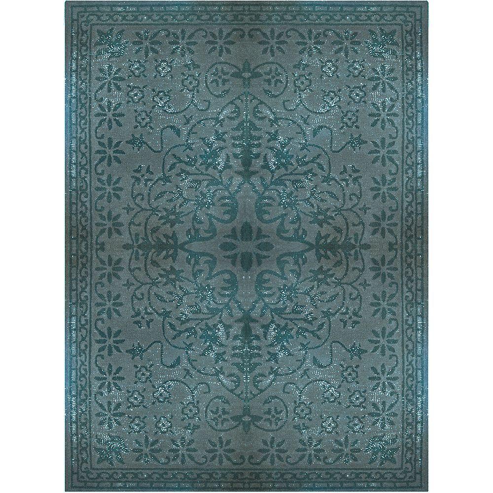 Lanart Rug Vintage Blue 6 ft. x 9 ft. Indoor Contemporary Rectangular Area Rug
