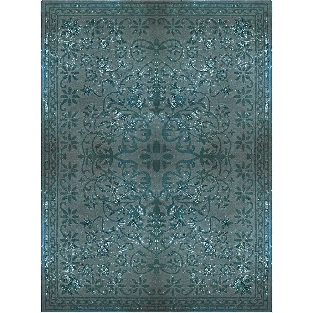 Lanart Rug Vintage Blue 8 ft. x 10 ft. Indoor Contemporary Rectangular Area Rug