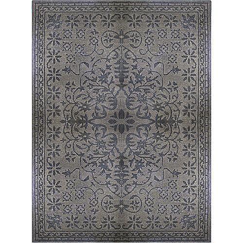 Vintage Grey 5 ft. x 8 ft. Indoor Transitional Rectangular Area Rug