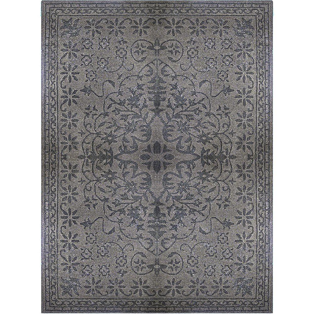 Lanart Rug Vintage Grey 6 ft. x 9 ft. Indoor Contemporary Rectangular Area Rug