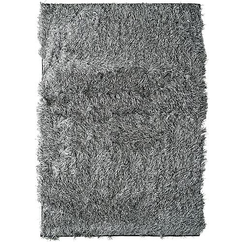 Lanart Rug Rebel Shag Grey 3 ft. x 5 ft. Indoor Shag Rectangular Area Rug