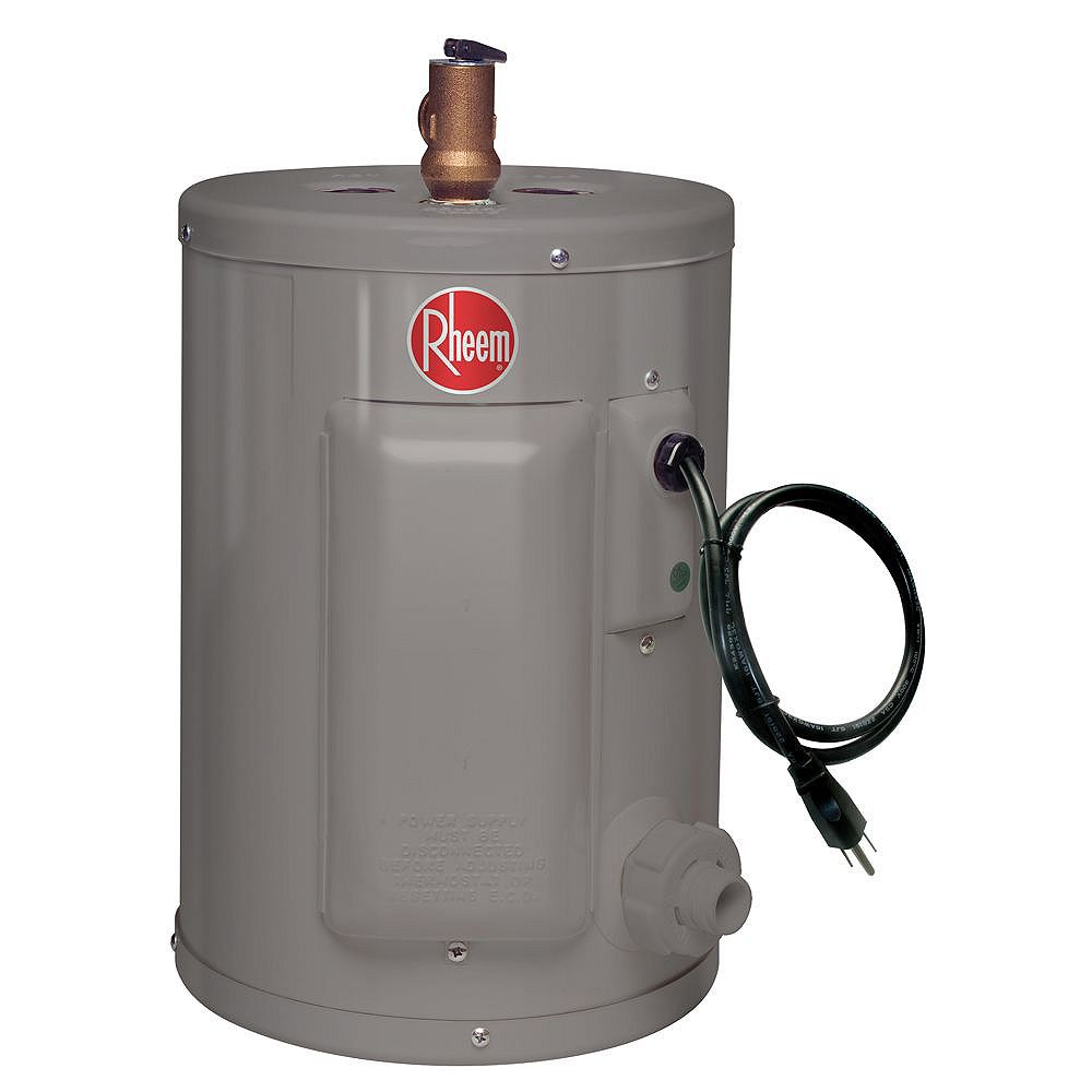Rheem Point Of Use 2 Imperial Gal Electric Water Heater With 6 Year Warranty The Home Depot Canada