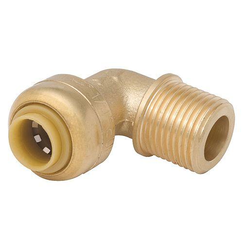SharkBite 1/4-inch x 3/8-inch MNPT Elbow
