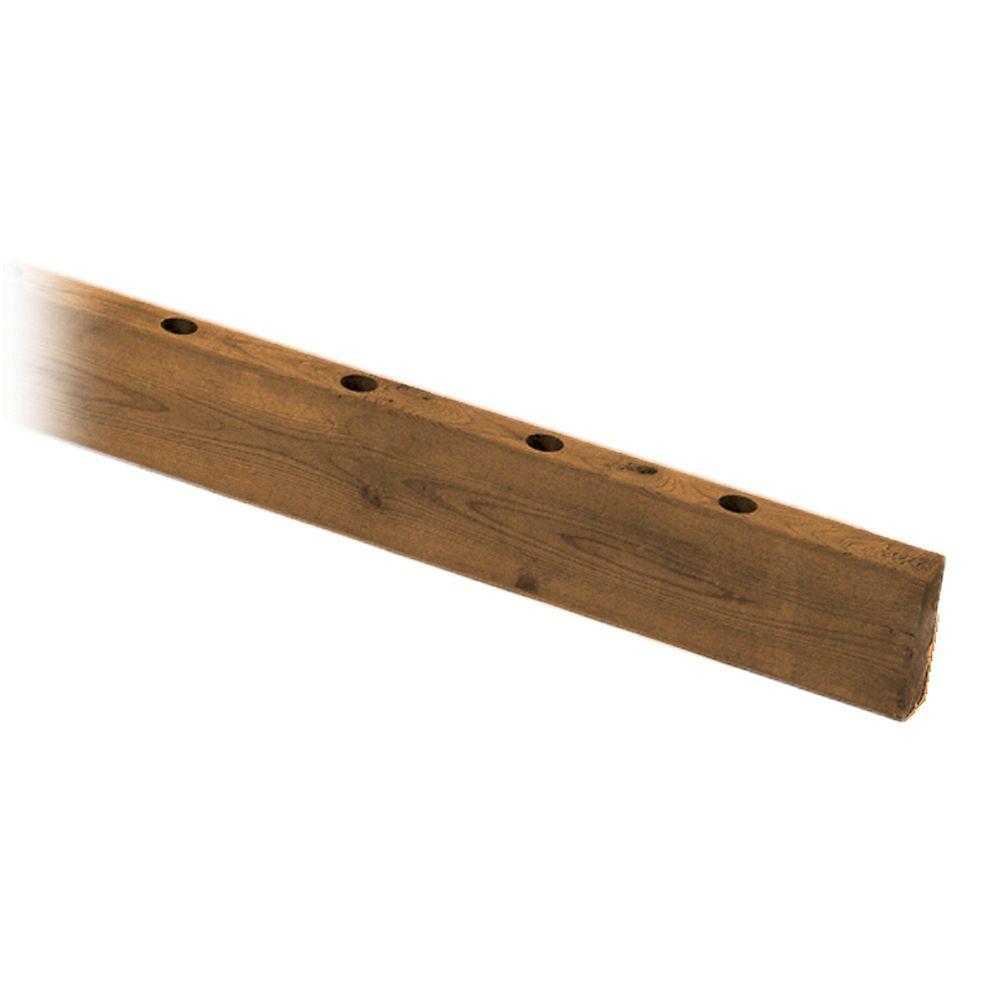 MicroPro Sienna 2 x 4 x 6' Treated Wood Drilled Rail