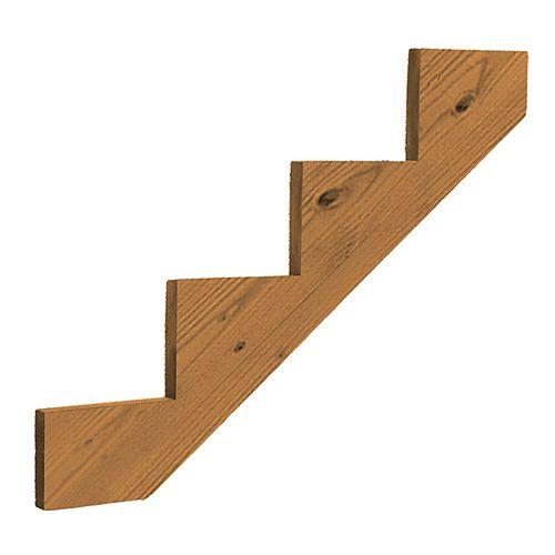 Pressure Treated Wood 4-Step Stair Stringer