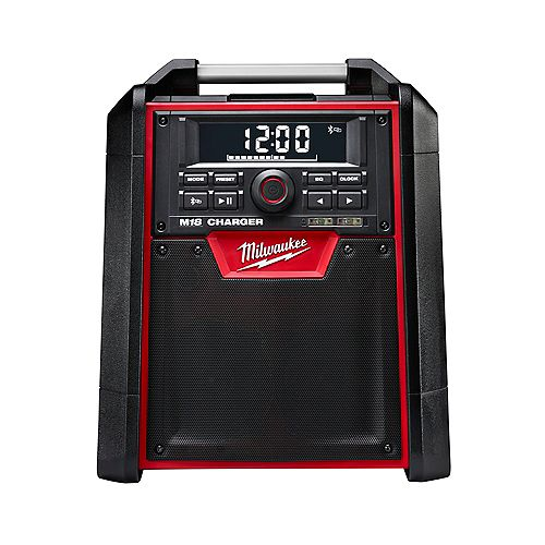 M18 Lithium-Ion Cordless Jobsite Bluetooth Radio and Battery Charger (Tool Only)