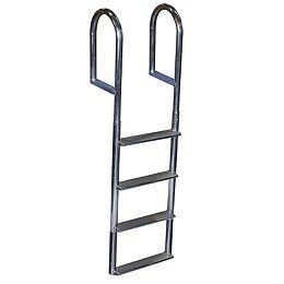 """""""Wide Step Aluminum Dock Ladder, 4 St"""""""
