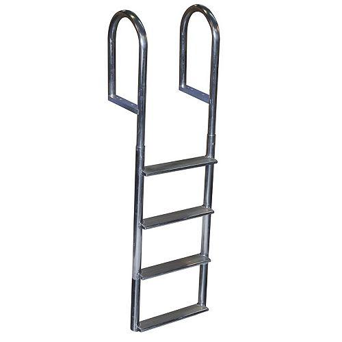 "Dock Edge ""Wide Step Aluminum Dock Ladder, 4 St"""