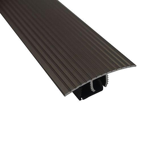 Cinch Snaptrack T-Moulding - 1-1/2 inch X 36 inch - Satin Nickel