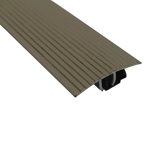 Cinch Snaptrack T-Moulding - 1-1/2 inch X 36 inch - Beige
