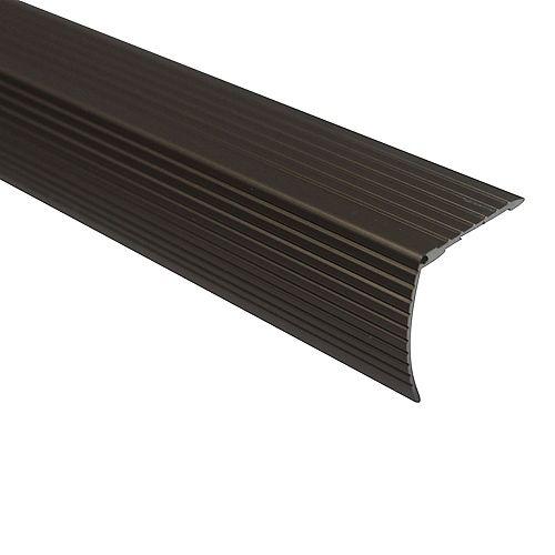 Cinch Stair Edging 1-1/8 inch Drop X 36 inch - Satin Nickel