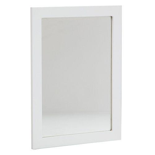 Miroir mural Lancaster de 50,8cm (20po) en blanc - LAWM20C-WH