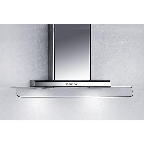 36-inch Curved Glass Canopy Wall-Mount Range Hood in Stainless Steel