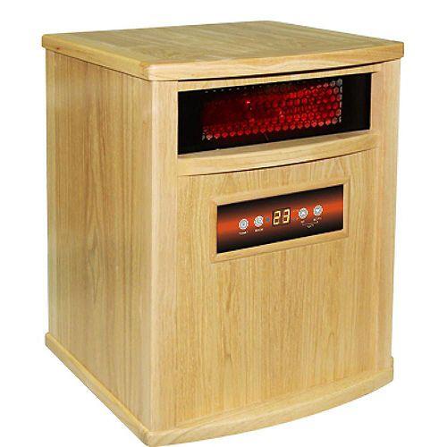 ACW0037WO 1500W, 4 Infrared Heating Elements, Heats 1,000 Sq. ft. Oak