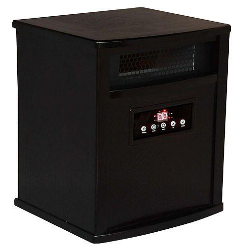 ACW0039WE 1500W, 4 Infrared Heating Elements, Heats 1,000 Sq. ft. Espresso