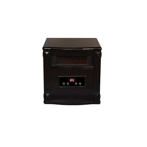 CF0033WE 1500W, 4 Infrared Heating Elements, Heats 1,000 Sq. ft. Espresso