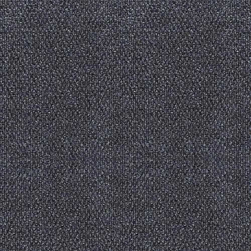 Tuile de tapis fleck avec motif à cabuchons 18 po. x 18 po., charbon/brume, 16 tuiles - (3,35 m2 carré par caisse)