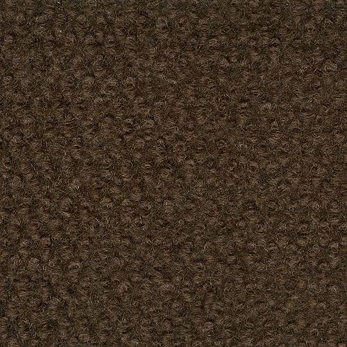 Tapis décoratif intérieur/extérieur avec motif à cabuchons chocolat 6 Pi. x 8 Pi.