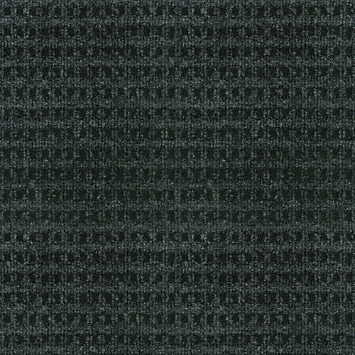 Checkmate Black 6 ft. x 8 ft. Indoor/Outdoor Textured Rectangular Area Rug