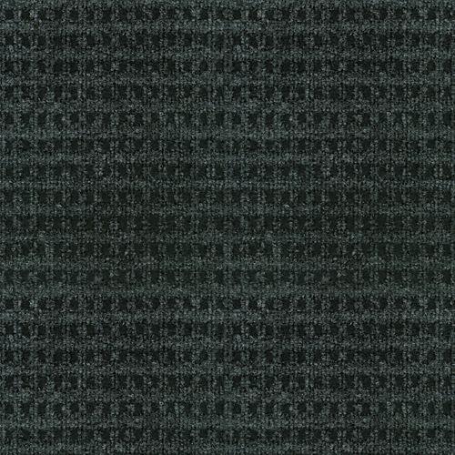 Carpette d'intérieur/extérieur, 6 pi x 8 pi, tissage texturé, rectangulaire, noir Checkmate
