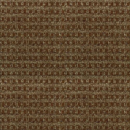 Carpette d'intérieur/extérieur, 6 pi x 8 pi, tissage texturé, rectangulaire, brun Checkmate