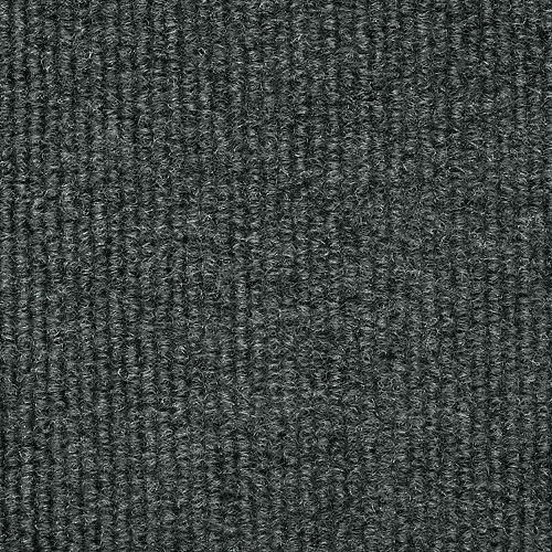 Carpette d'intérieur/extérieur, 6 pi x 8 pi, tissage texturé, rectangulaire, gris Unbound