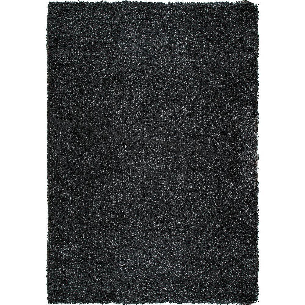 Orian Rugs Chunky Shag Black 7 ft. 10-inch x 10 ft. 10-inch Rectangular Area Rug