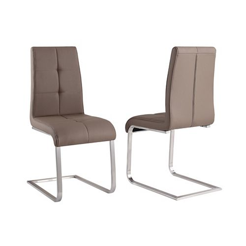 Kolt - Box of 2 - Side Chair - Taupe Grey