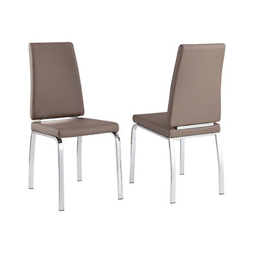 Lex - Box of 2 - Side Chair - Taupe Grey