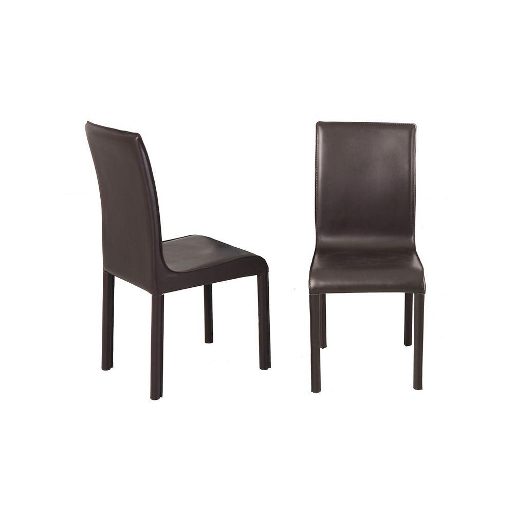 Worldwide Homefurnishings Inc. Nesso - Box of 2 - Side Chair - Brown